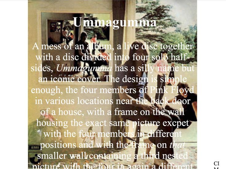 Pink Floyd - Ummagumma  Created by CIM