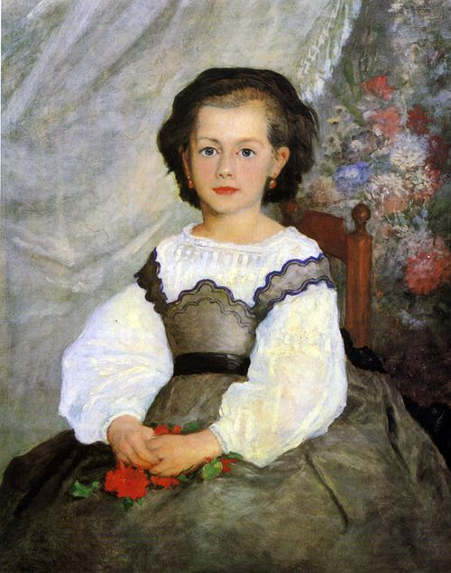 Little Miss Romain Lacaux by Pierre Auguste Renoir - 1864
