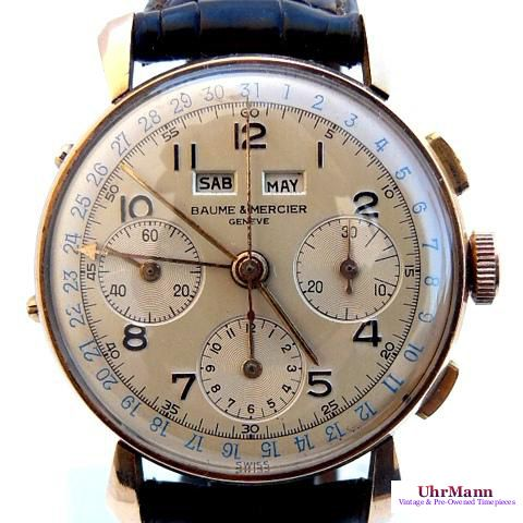 Another rare white dial I like. It's probably the patina. Baume & Mercier Chronograph