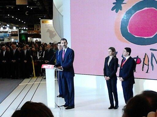SM el Rey Felipe VI en Fitur 2015