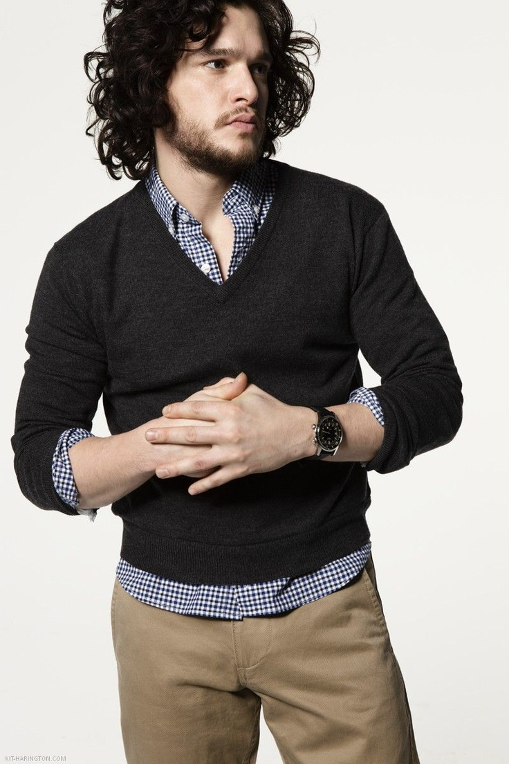 Gary: first, try and be awesome like Jon Snow. Second, I like the layered shirt/sweater with the tailored pants. And also the watch. And maybe get an albino dire wolf.