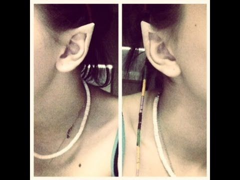 Elf ears from tape! this really is the easiest, least expensive way to get good looking elf ears. for real