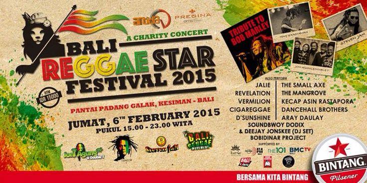 #BaliReggaeStar friday, feb 6th 2015 @ pantai padang galak Bali start from 3pm