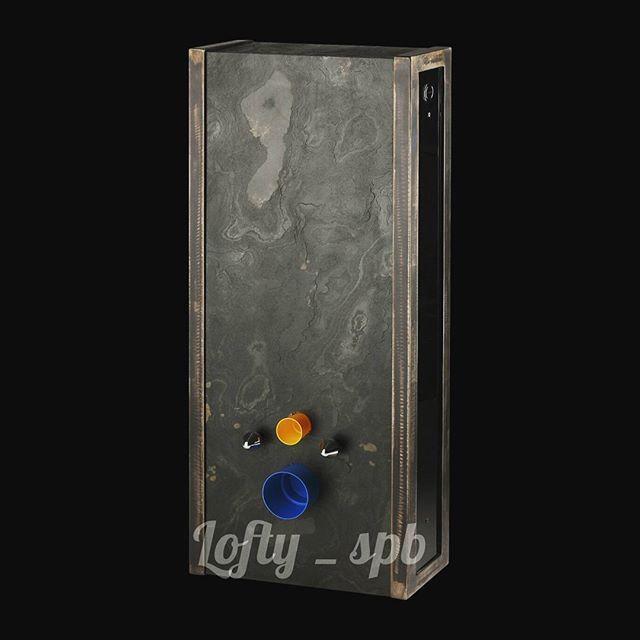 ❕Инсталляция для подвесного унитаза Rock. 🔸Сталь, натуральный камень, стекло. 🔸Швейцарская пневматическая арматура 🔸20 вариаций цвета и рельефа камня Совместная работа с компанией SanitärProfi. 📲+7 (921) 379 19 21  Мебель для ванной комнаты #лофт #loft #design #ванная #лофтмебель