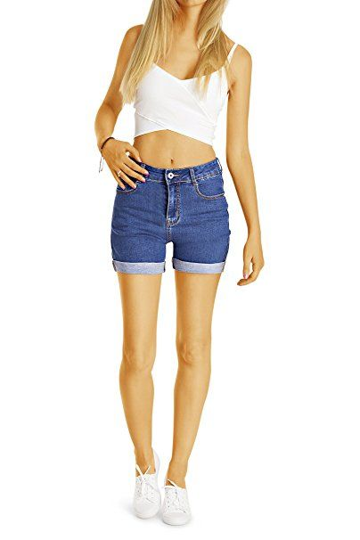 43cd7a5c91f0b5 Bestyledberlin Damen High Waist Hot Pants, Denim Shorts, Sommer Jeansshorts  j57i: - Sommer