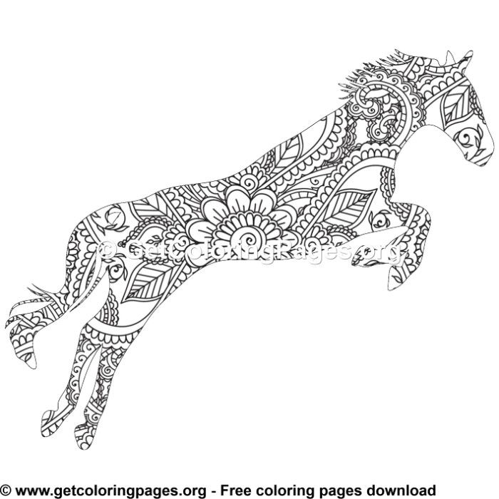 Easy 22 Zentangle Horse Pattern Coloring Pages Pattern Coloring Pages Horse Coloring Pages Coloring Pages