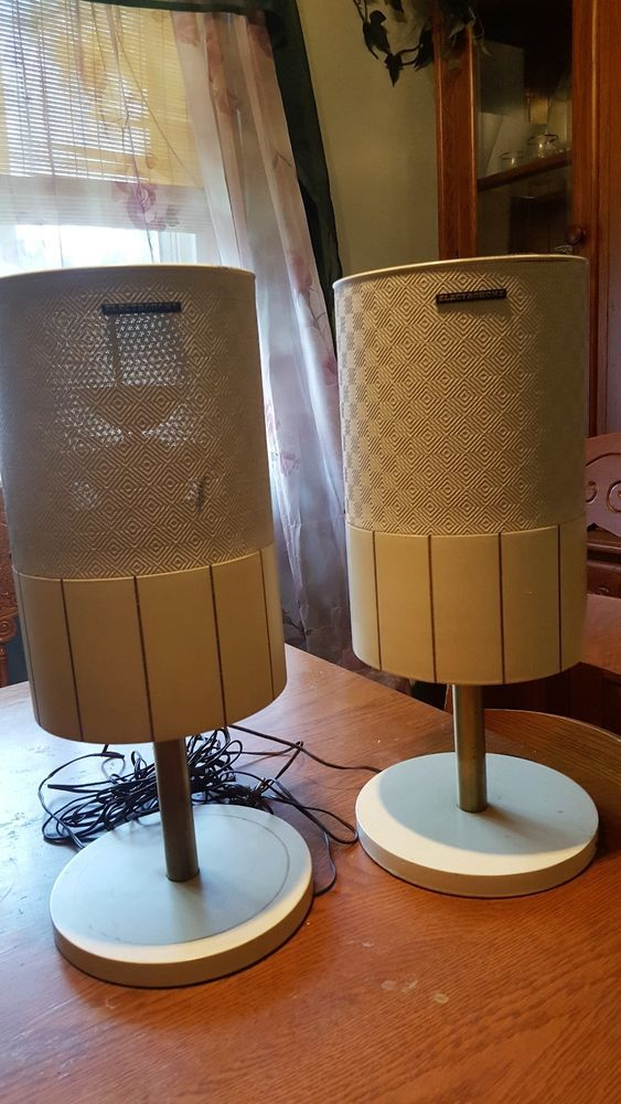 Mid Century Modern Electrohome 2000a Cylinder Speakers