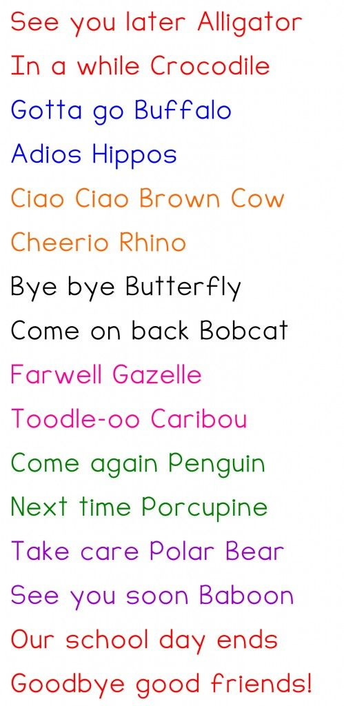 poems for kids about saying goodbye | just b.CAUSE