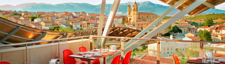 Hotel Marques De Riscal Elciego. Bistro Restaurant 1860 Terrace. 823x234