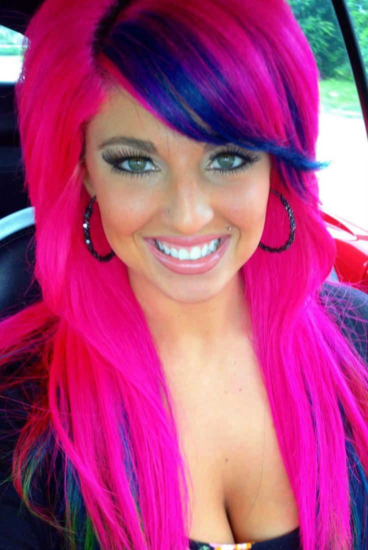 best 25 colored hair streaks ideas on pinterest