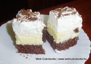 Amerikai krémes | Puha, krémes, habos és édes, ráadásul milyen szép is! :) Farkasné Joó Ibolya süteménye, köszönjük szépen! Íme a receptje: http://webcukraszda.hu/edesseg_search.php?id=1951