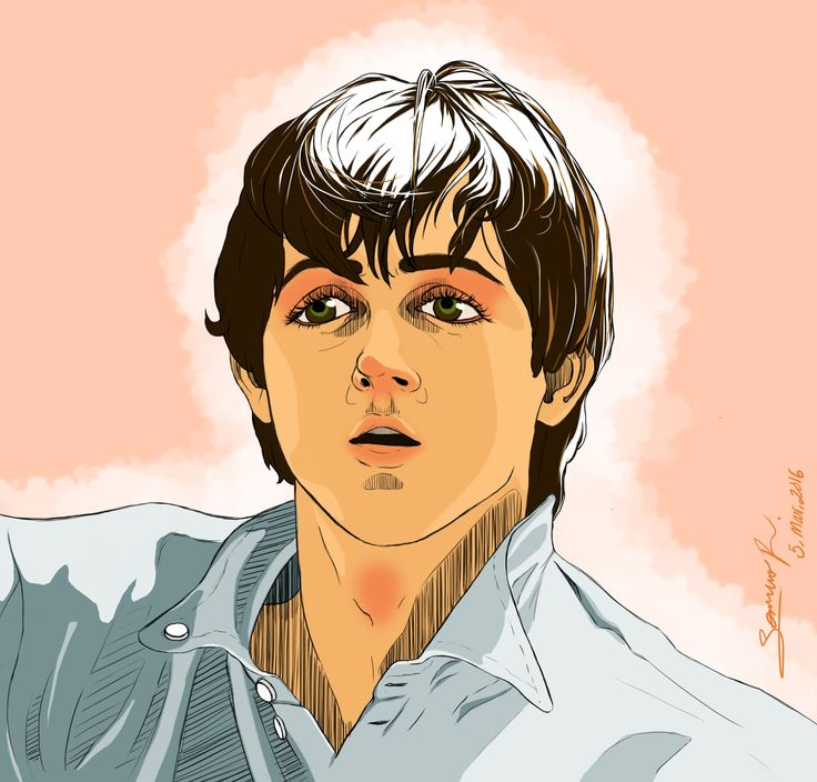 Tanned Paul McCartney cartoon   #PaulMcCartney #Thebeatles #McCartney #Digital
