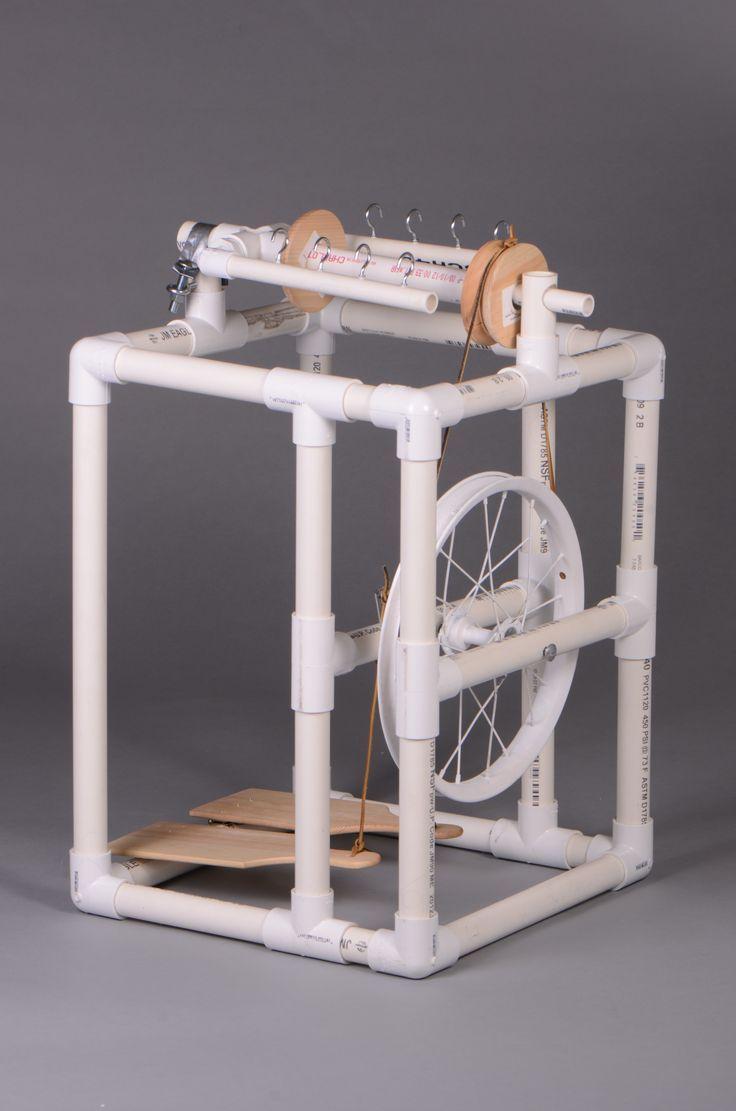 PVC tube spinning wheel.