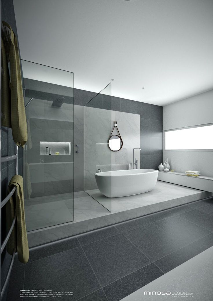 Best 20 grey modern bathrooms ideas on pinterest for Modern glass bathroom