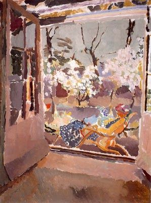 Painting of Vanessa Bell by Duncan Grant at home in Charleston, Sussex 1919