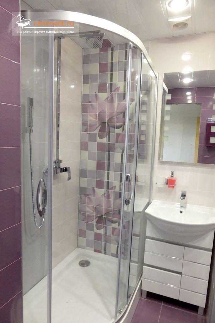 Ремонт в 9-ти этажке (совмещение ванной 1,5 и туалета): установка душевого уголка 120*90