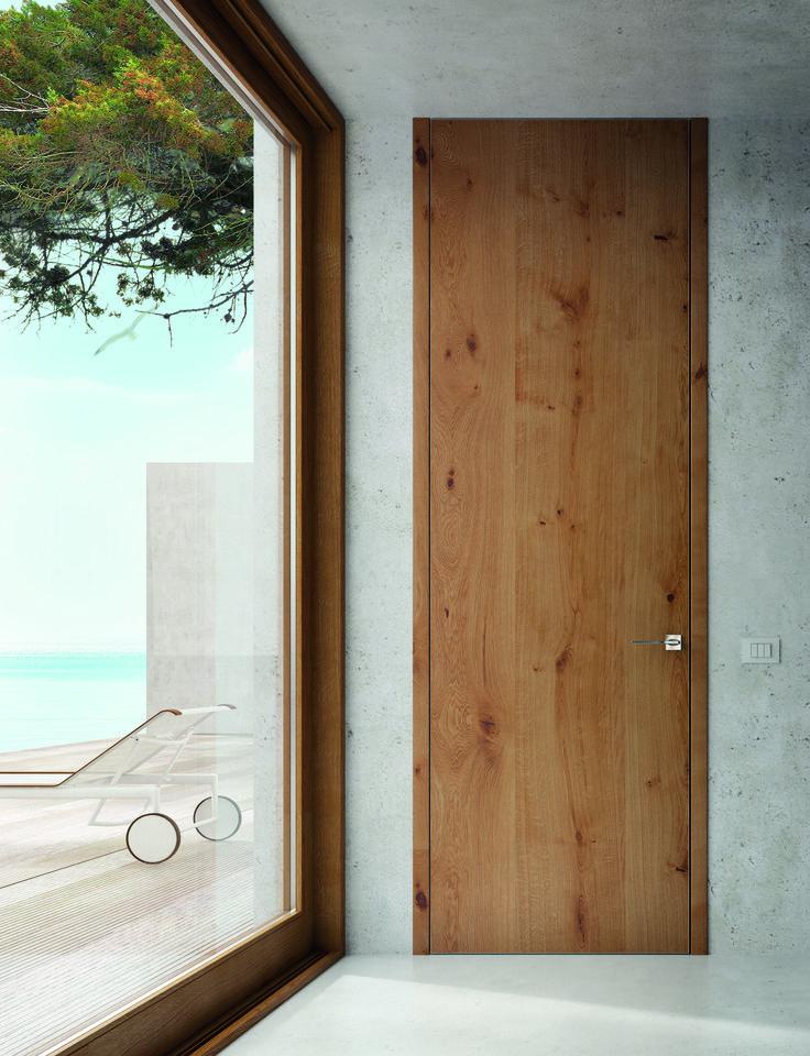 Высокий дизайн.  Высокие двери под потолок, Sofia Skyline,  дуб рустик.  #sofiadoors #двери #паркет