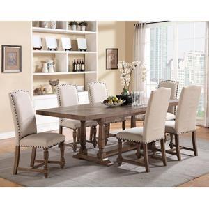 Xcalibur 7 Piece Dining Set Upholstered ChairsNebraska Furniture MartSide