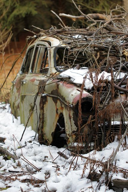Abandoned car by Nick Overmeyer on Flickr.