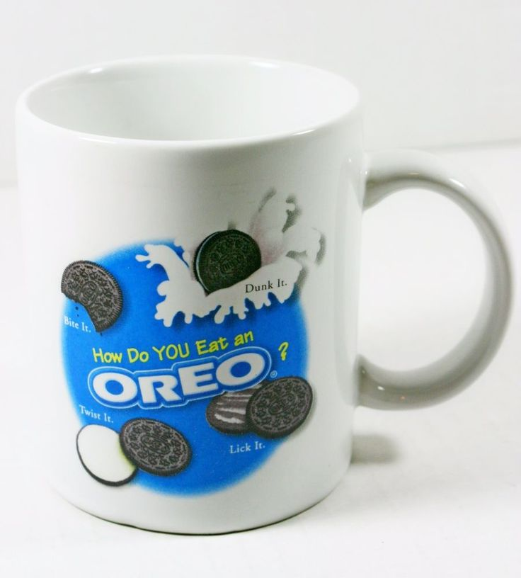 OREO Nabisco Brand Cookies Tea Coffee Cocoa Collectible Mug Cup How do YOU Eat? #Nabisco