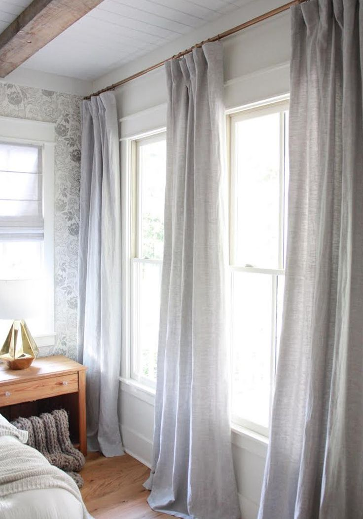 A modern farmhouse with vintage appeal. custom drapes and curtains by @barnandwillow