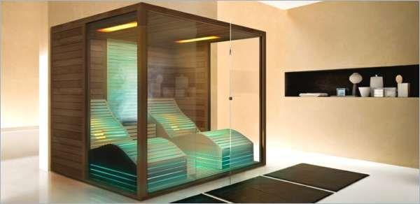 Häufig Kleine Sauna Furs Badezimmer Glas Sauna Wellness Zu Hause Archzine CB26