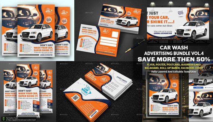 Car wash advertising bundle vol 4 car wash download