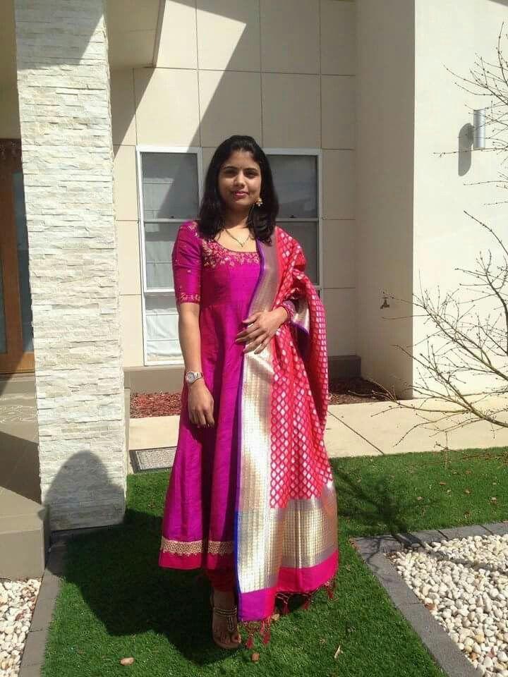 119 best Silk dupattas images on Pinterest | Blouse designs, Dress ...