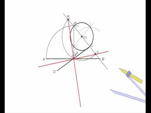Determinación de la elipse dados dos diametros conjugados - YouTube