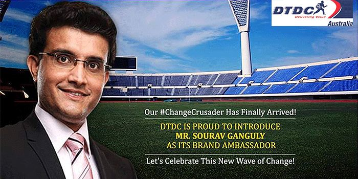 #‎DTDC‬ has engaged former Indian cricket team captain #SouravGanguly as its brand ambassador.