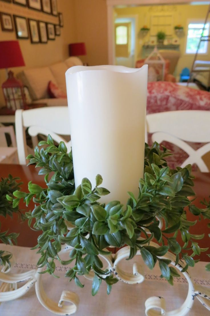How to DIY Candle Rings, Boxwood, Greenery