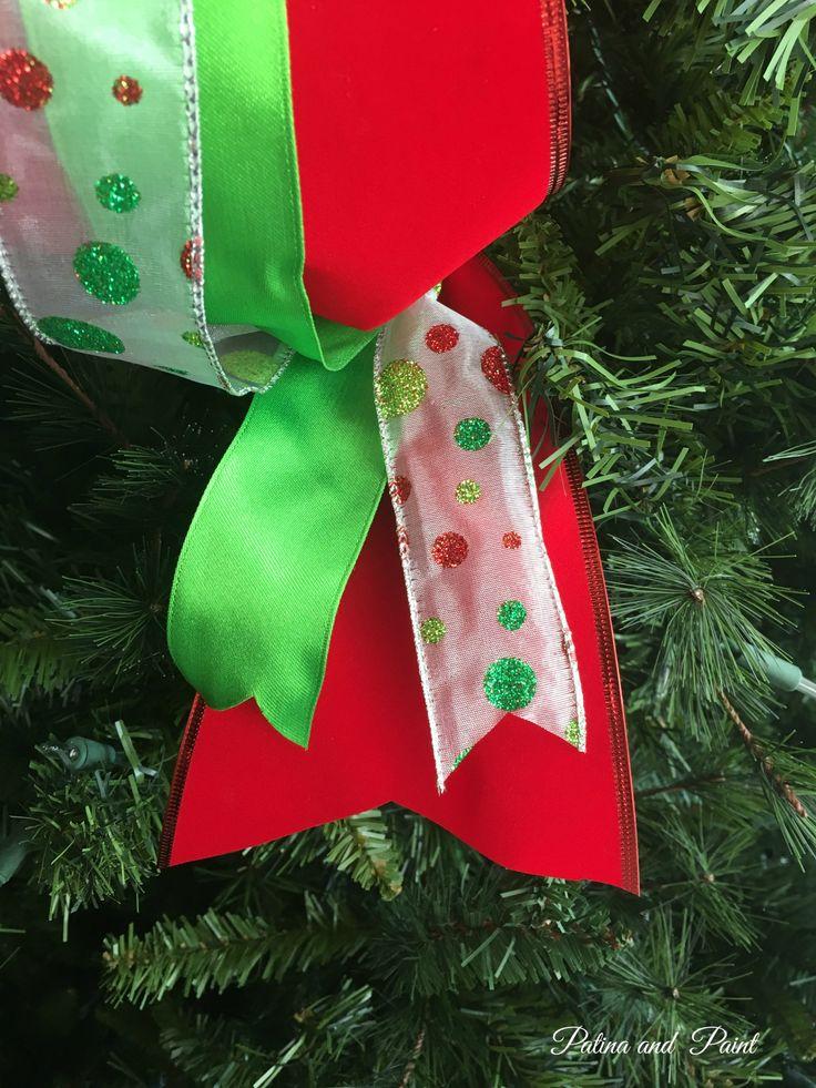 How I Put Ribbon on My Christmas Tree   Christmas tree ...