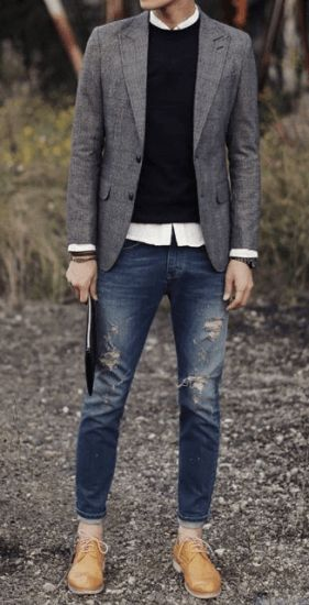 Denims With Dress Shoes Combination