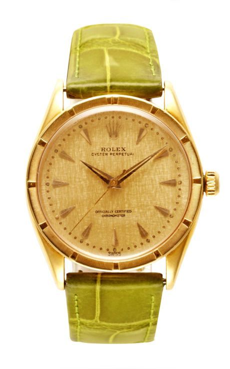 Shop Rare Rolex 1950'S Yellow Gold Manual Wind Watch by CMT Fine Watch and Jewelry Advisors for Preorder on Moda Operandi