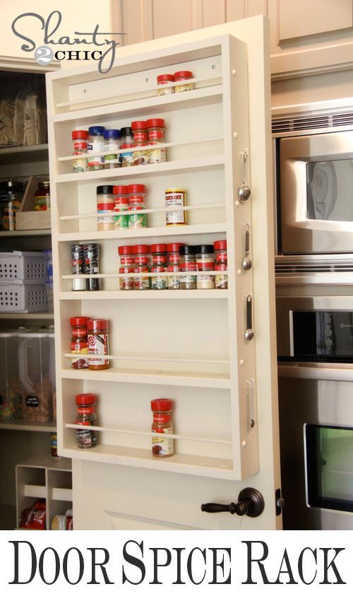 157 best diy kitchen organization images on pinterest pantry ideas diy door spice rack solutioingenieria Gallery