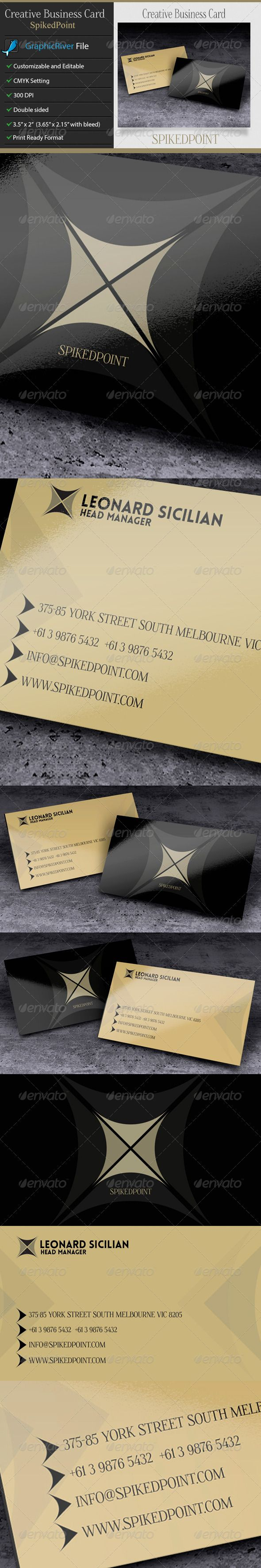 Creative or Corporate Business Card – SpikedPoint