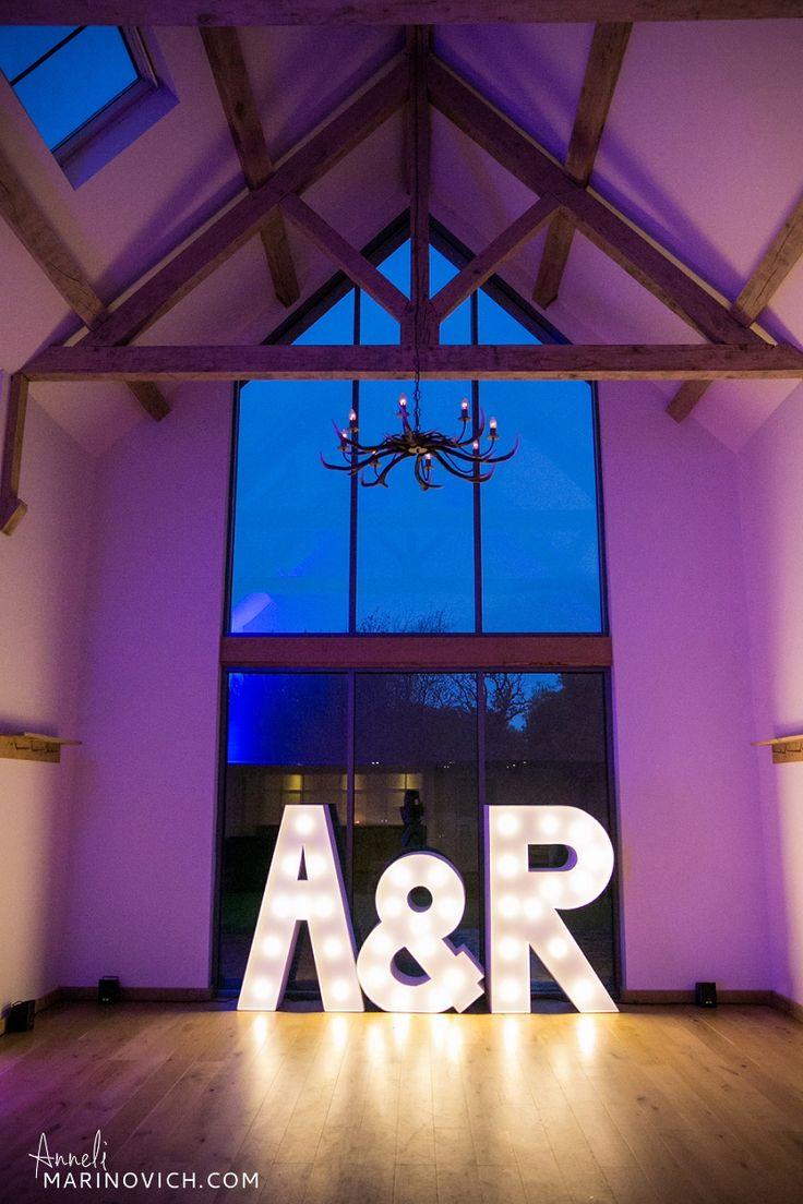 """Light-Up-Love-giant-letters-at-Millbridge-Court-Wedding-Photographer-Anneli-Marinovich-15"""