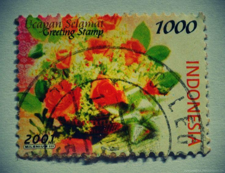 Greeting Stamp 2001 (Rp 1000)