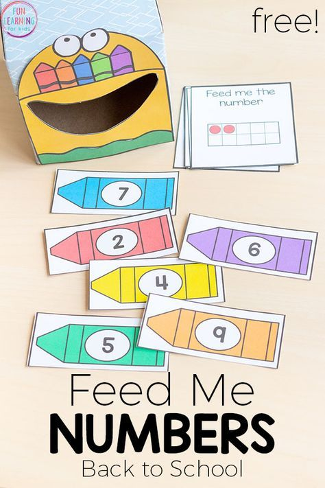 Feed Me Numbers Crayon Activity For Back To School A Fun Way Learn In Pre K Or KindergartenThis Is Perfect Your Math Centers