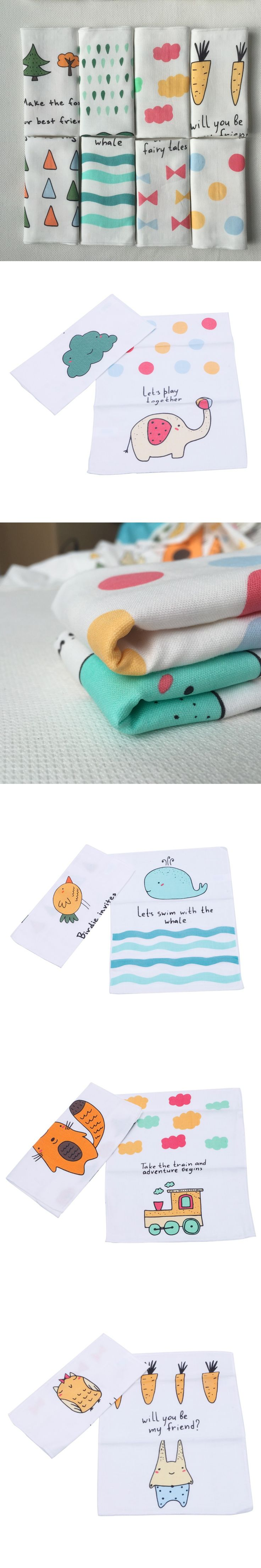 2Pcs Newborn Soft Saliva Nursing Feeding Towel Baby 100% Cotton Handkerchief $2.44