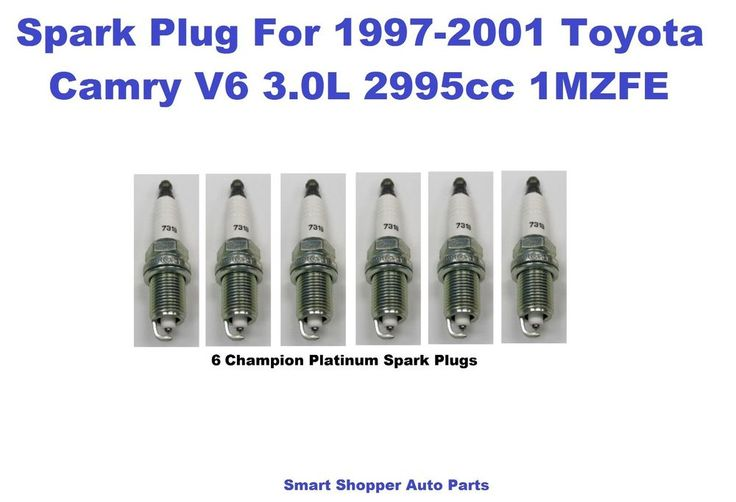 6 Champion Spark Plug for  1997-2001 Toyota Camry  V6 3.0L