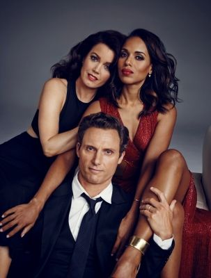 Bellamy Young, Tony Goldwyn and Kerry Washington on SCANDAL Season 5