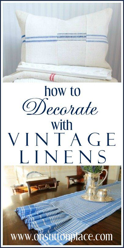 Tips and ideas for adding vintage soft furnishings to your decor.