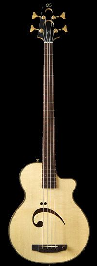 [ƒrettedchordophone 2015] DeMars Guitars, The Long Trail Bass --- https://www.pinterest.com/lardyfatboy/