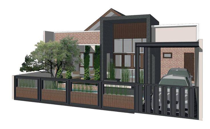 Arsitek: Triplus Lokasi: - Luas Tanah: 11 m x 34 m Saya ingin membangun rumah dengan model yang lagi tren. Lahan yang dimiliki lebarnya 11 meter dan panjangnya 34 meter. Kebutuhan ruangnya, satu garasi atau carport, taman,1 kamar tamu, 2 kamar anak, dan 1 kamar utama dengan tiap kamar memiliki toilet masing-masing. Saya juga membutuhkan …