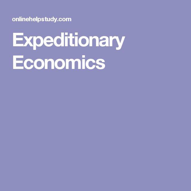 Expeditionary Economics