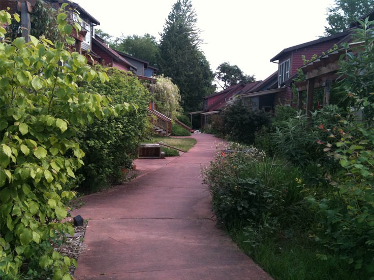 Cohousing development in Seattle: cooperative, community based living.