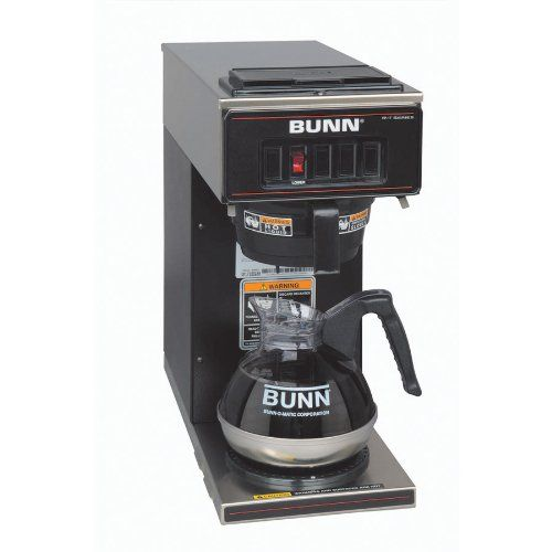 SALE BUNN 13300.0011 VP17-1BLK Pourover Coffee Brewer with One Warmer, Black