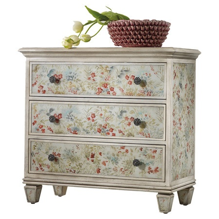 floral decoupage furniture. The Hooker Furniture Living Room Melange Farrah Flowered Chest Is Available In Goodlettsville, Tennessee, 37072 Area From B. Floral Decoupage N