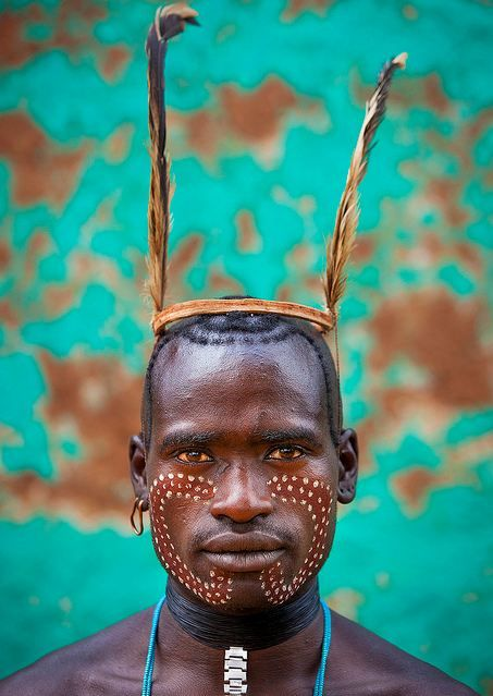 Ethiopia Bana tribe whipper, Omo Key Afer. Eric Lafforgue